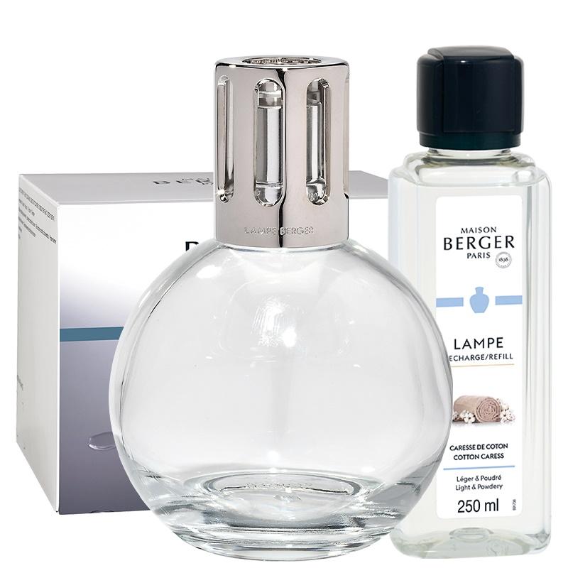 Set Berger lampa catalitica Essentielle Ronde cu parfum Caresse de Coton si So Neutral poza