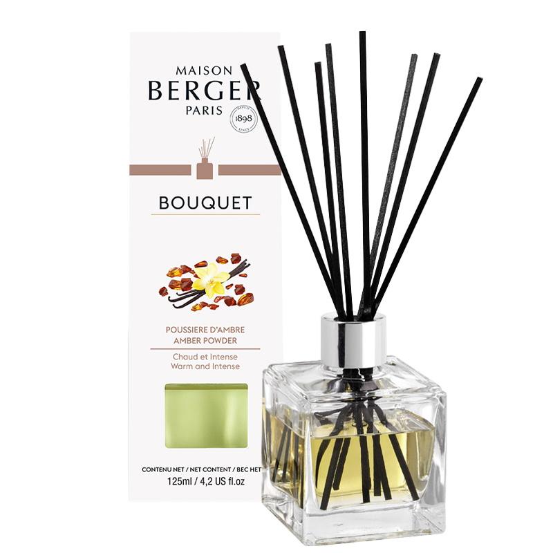 Difuzor parfum camera Berger Bouquet Parfume Cube Poussiere d'Ambre 125ml imagine