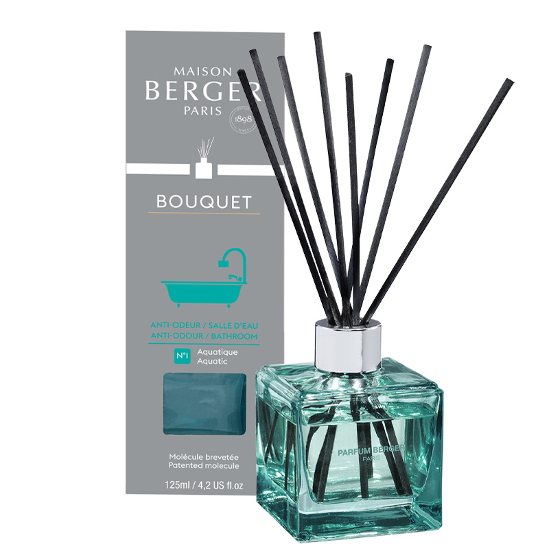 Difuzor parfum camera Berger Bouquet Parfume Cube Bathroom 125ml imagine