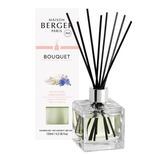 Difuzor parfum camera Berger Bouquet Parfume Cube Lin en Fleurs 125ml poza