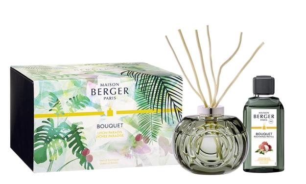 Difuzor parfum camera Berger Bouquet Parfume Immersion Gris Mousse cu parfum Litchi Paradis 200ml