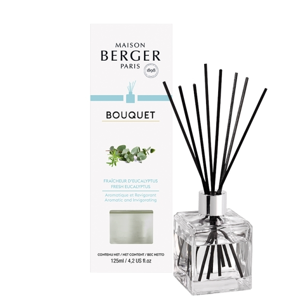 Difuzor parfum camera Berger Bouquet Parfume Cube Fraicheur d'Eucalyptus 125ml poza