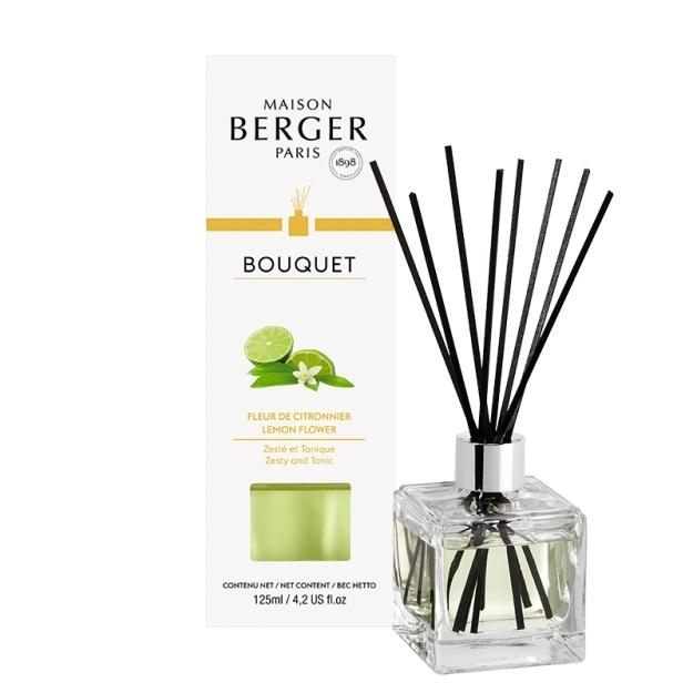Difuzor parfum camera Berger Bouquet Parfume Cube Fleur de Citronnier 125ml imagine