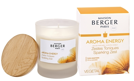 Lumanare parfumata Berger Aroma Energy Zestes Toniques 180g poza