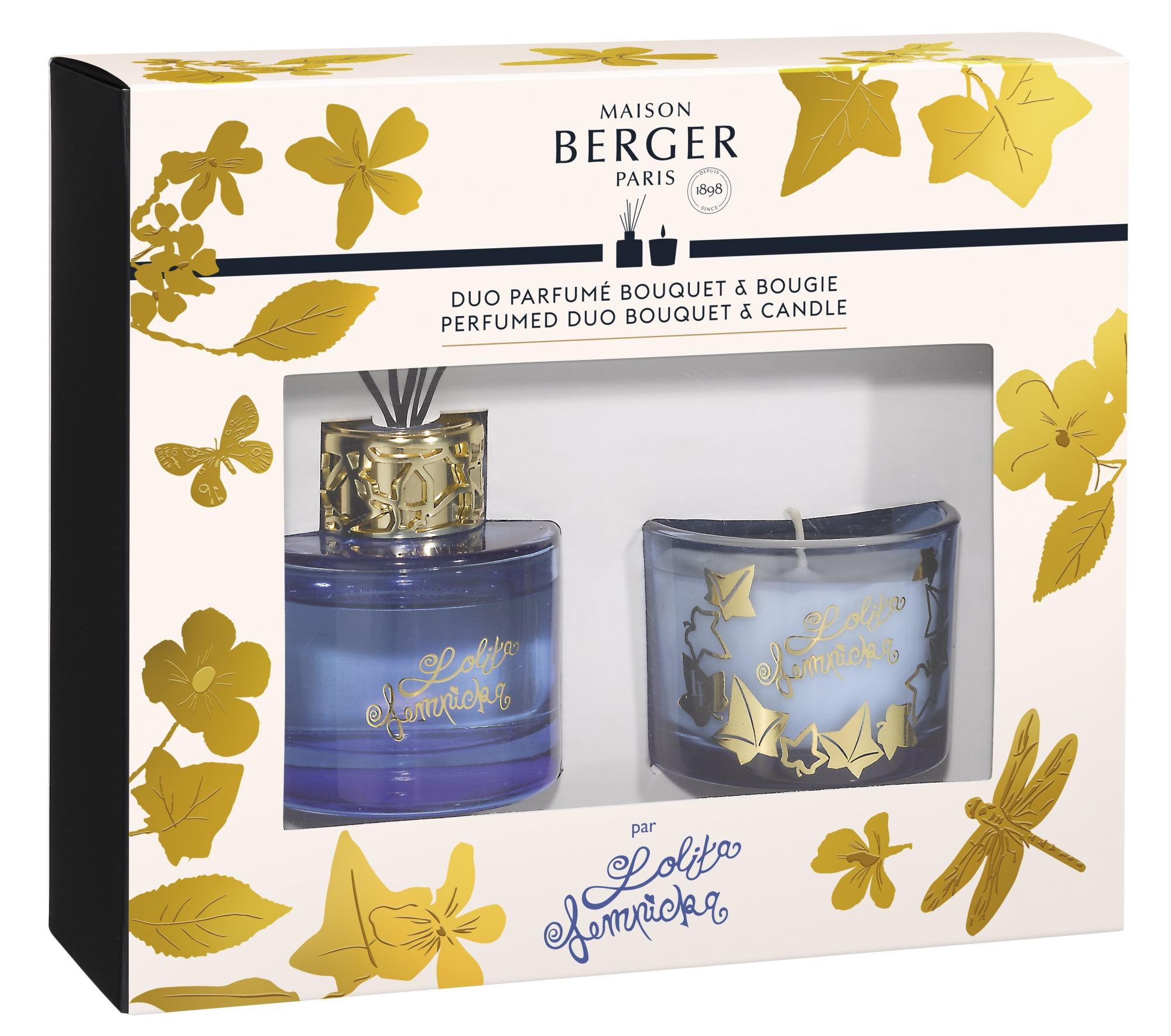 Set Berger Duo Lolita Lempicka Blue Bouquet Parfume 80ml + lumanare parfumata 80g imagine