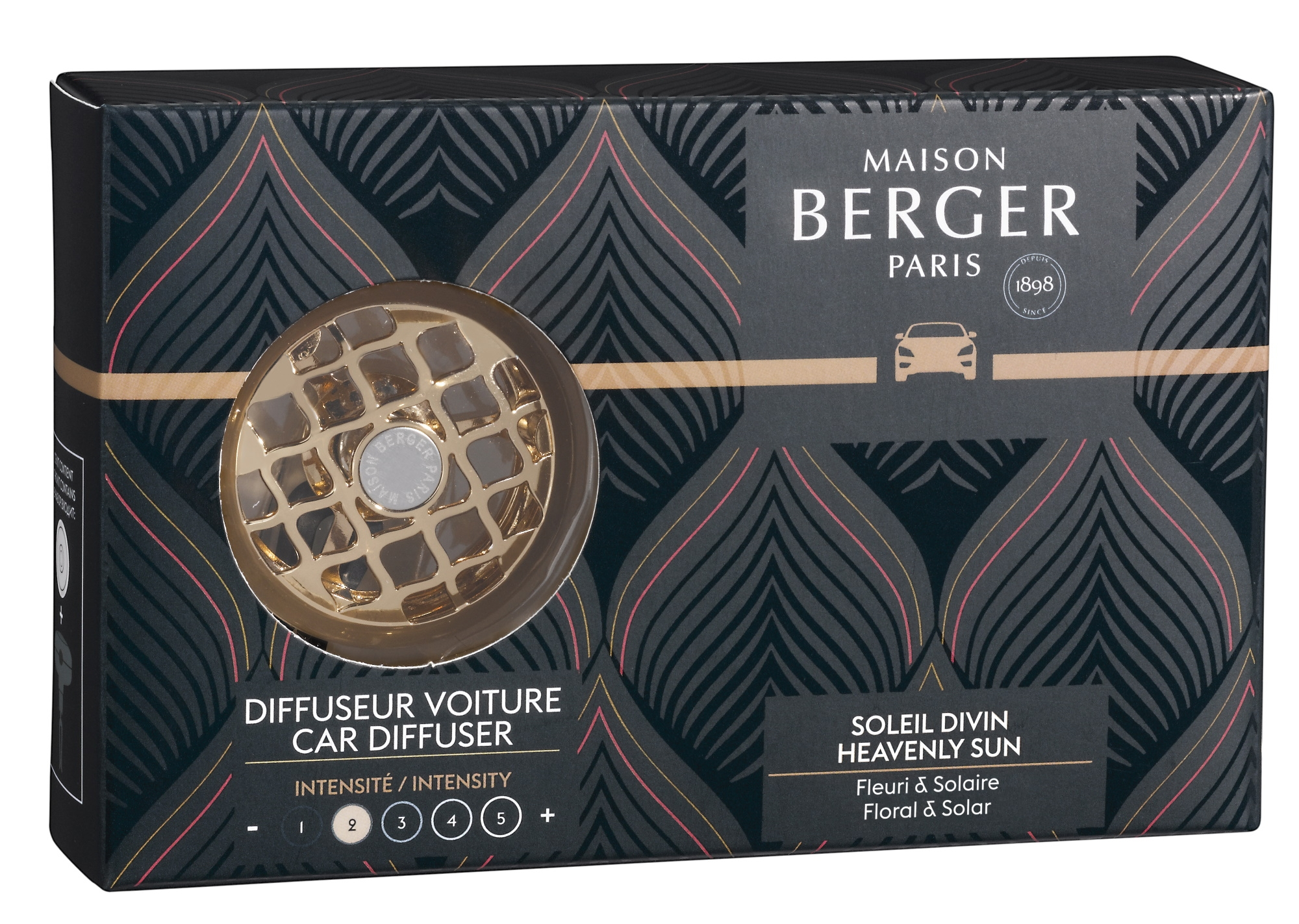 Set odorizant masina Berger Relaxing Escapade + rezerva ceramica Soleil Divin imagine