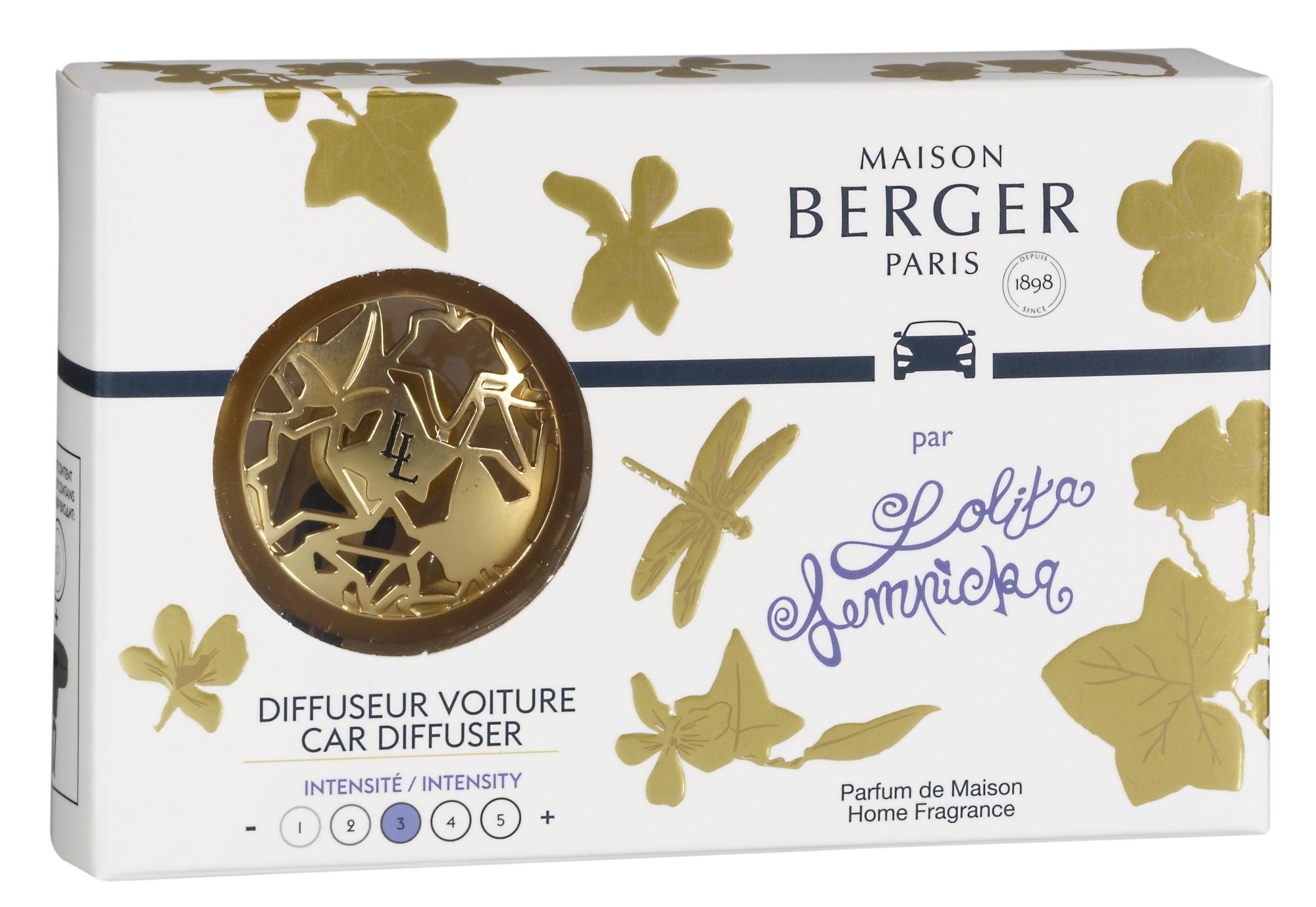 Set odorizant masina Berger Lolita Lempicka - Or satine + rezerva ceramica imagine
