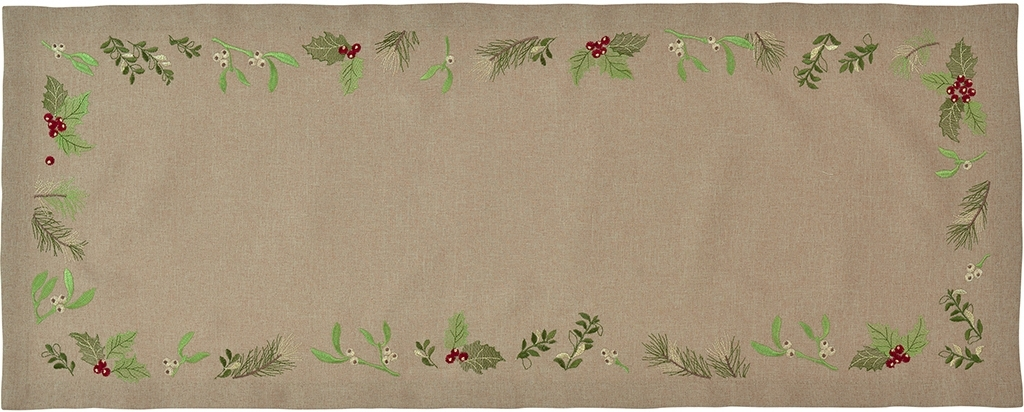 Napron Sander Embroidery X-Mas Leaves 20x80cm 70 Atmosphere poza