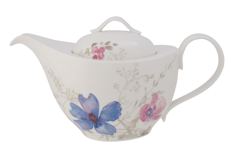 Vas servire ceai Villeroy & Boch Mariefleur Gris Basic 1.20 litri 6 persoane poza