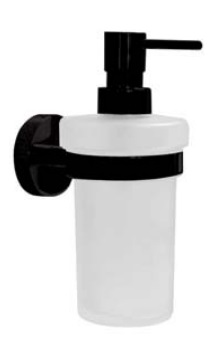 Dispenser sapun lichid Bemeta Dark cu montaj pe perete poza