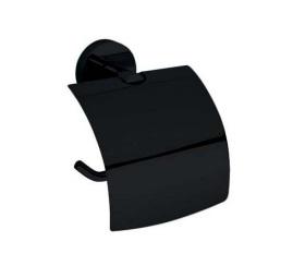 Suport hartie igienica cu aparatoare Bemeta Dark poza