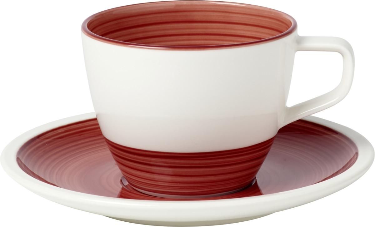 Ceasca si farfuriuta pentru cafea Villeroy & Boch Manufacture Rouge 0.25 litri poza