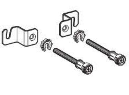 Set de fixare Geberit pentru cadre Duofix cu rezervoare de 8cm grosime imagine sensodays.ro