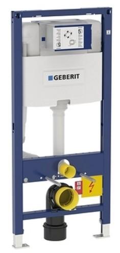 Rezervor incastrat Geberit Duofix Omega de 12 cm grosime si cadru cu actionare frontala H112 cm