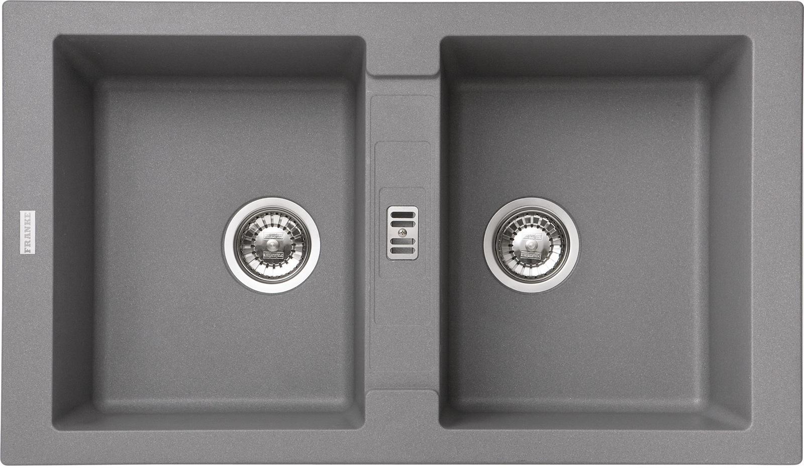 Chiuveta bucatarie fragranite Franke Maris MRG 620 reversibila 860x500mm tehnologie Sanitized Alluminio poza