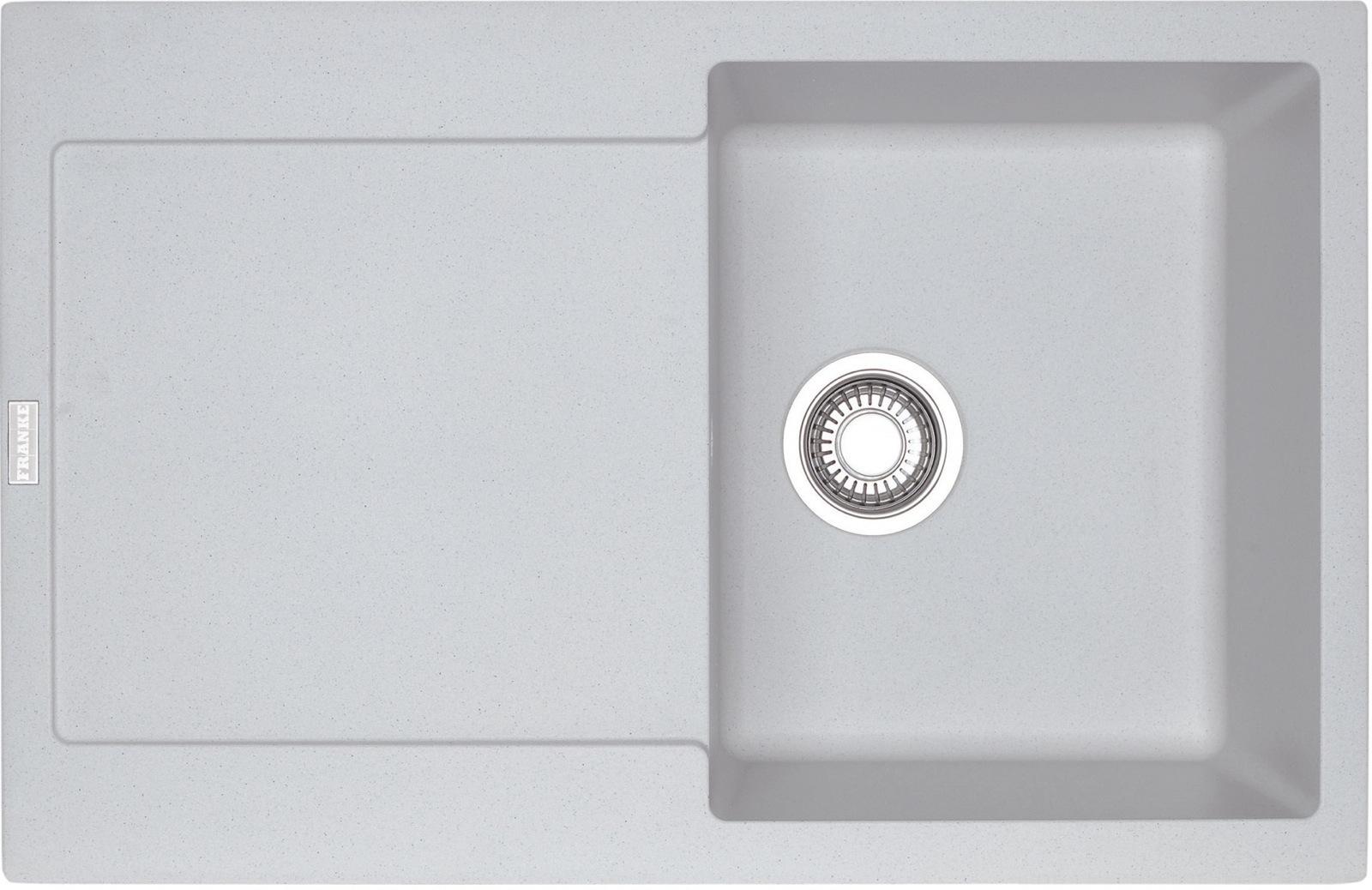 Chiuveta bucatarie fragranite Franke Maris MRG 611 reversibila 780x500mm tehnologie Sanitized Bianco imagine sensodays.ro