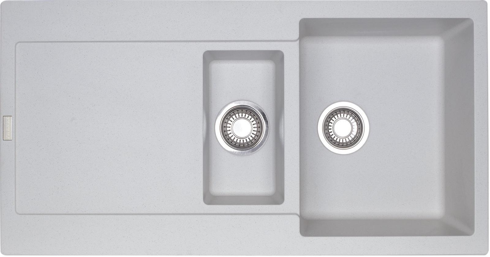 Chiuveta bucatarie fragranite Franke Maris MRG 651 reversibila 970x500mm tehnologie Sanitized Bianco imagine sensodays.ro