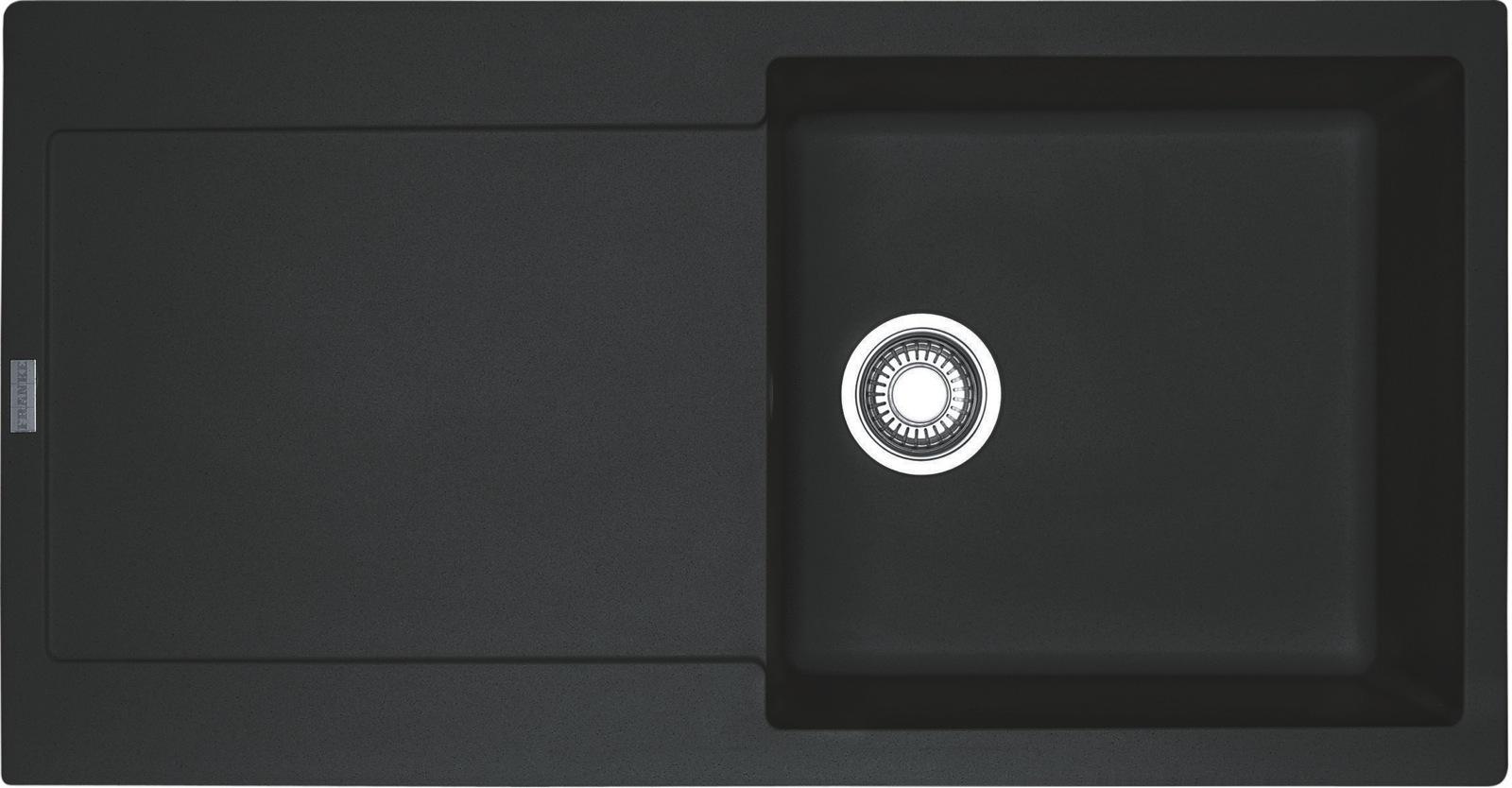 Chiuveta bucatarie fragranite Franke Maris MRG 611-L reversibila 970x500mm tehnologie Sanitized Nero imagine sensodays.ro