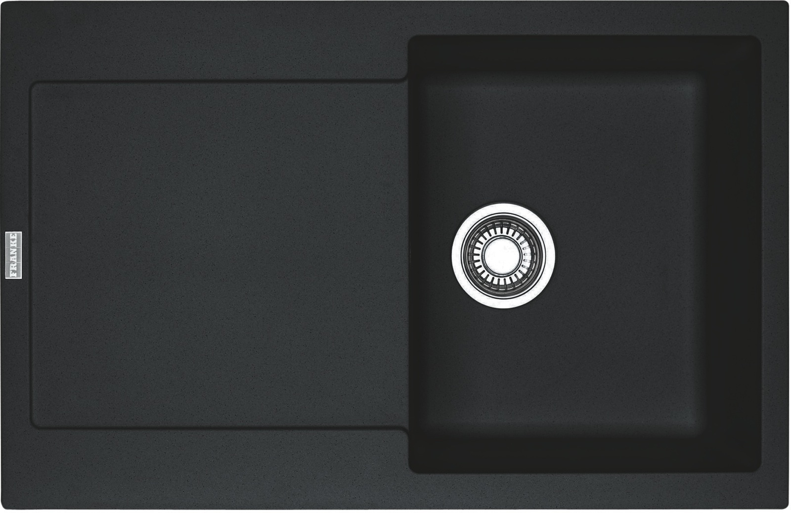 Chiuveta bucatarie fragranite Franke Maris MRG 611 reversibila 780x500mm tehnologie Sanitized Nero imagine sensodays.ro