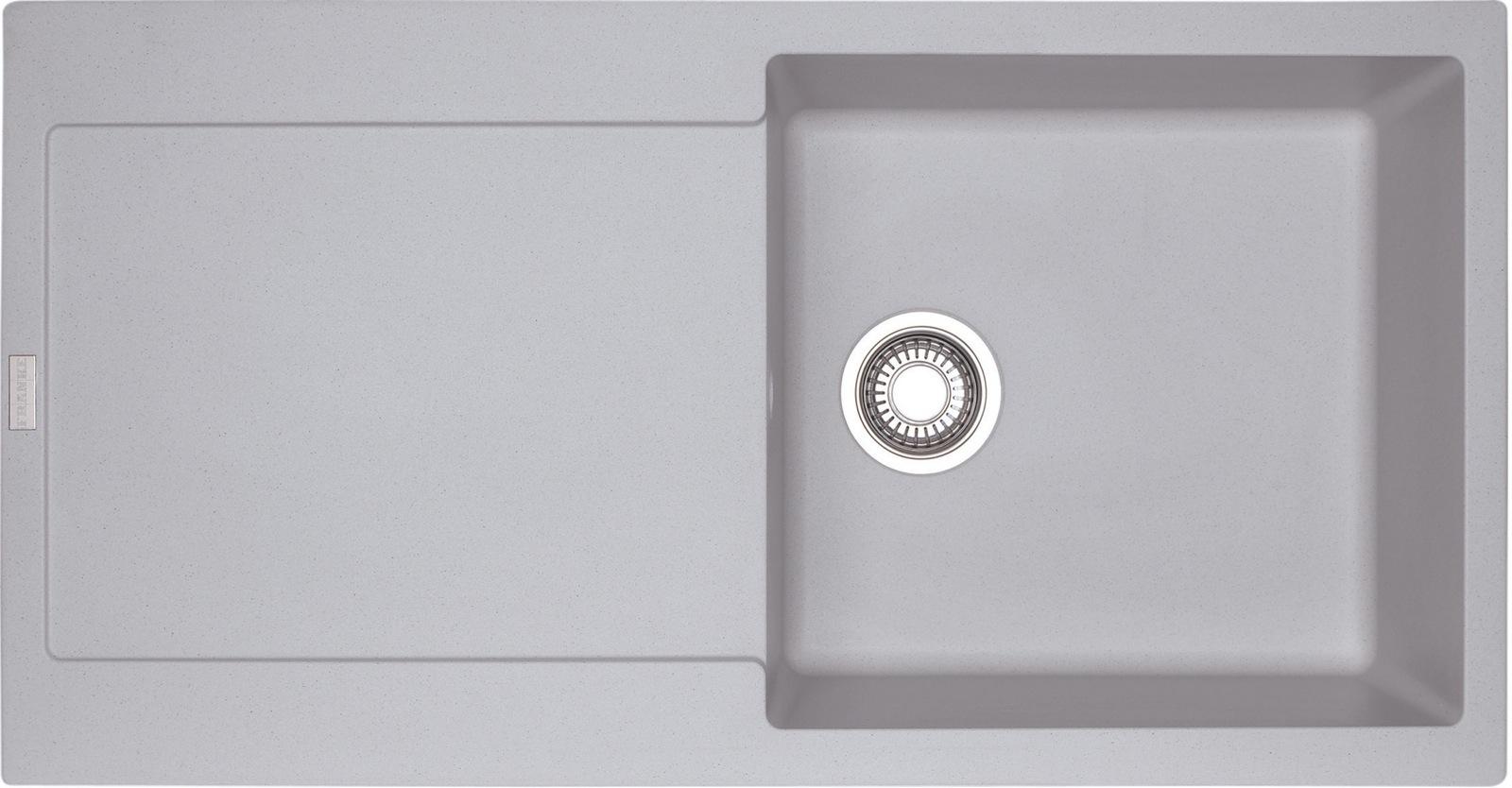 Chiuveta bucatarie fragranite Franke Maris MRG 611-L reversibila 970x500mm tehnologie Sanitized Alluminio imagine sensodays.ro