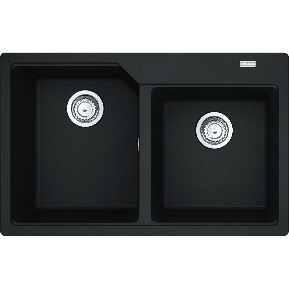 Chiuveta bucatarie fragranite Franke Urban UBG 620-78 cu doua cuve 780x500mm Nero imagine sensodays.ro