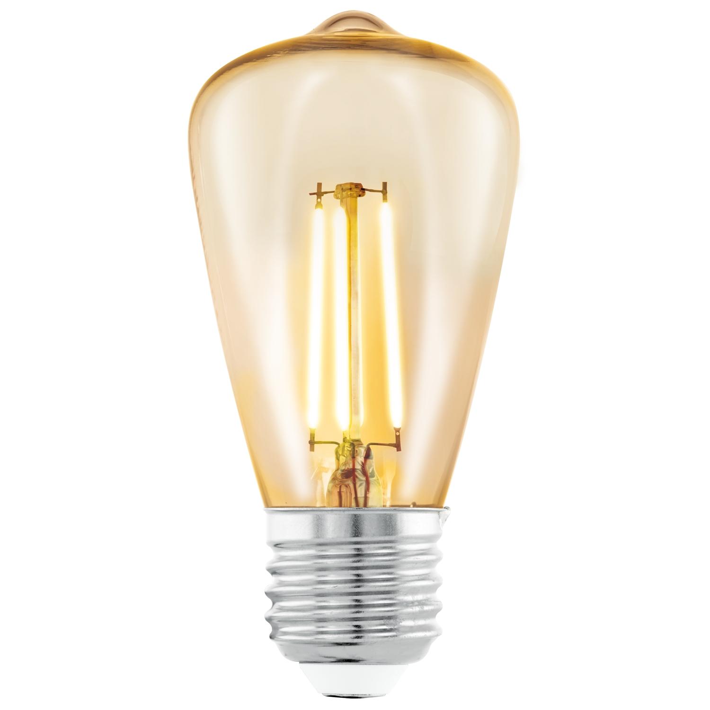 Bec LED Eglo Vintage Style Amber E27-LED ST48 3.5W 2200K 25000 ore imagine sensodays.ro