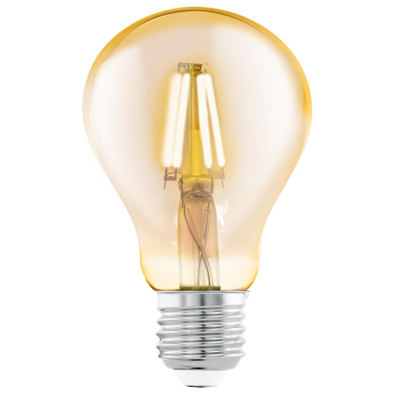 Bec LED Eglo Vintage Style Amber E27-LED A75 4W 2200K 25000 ore imagine sensodays.ro
