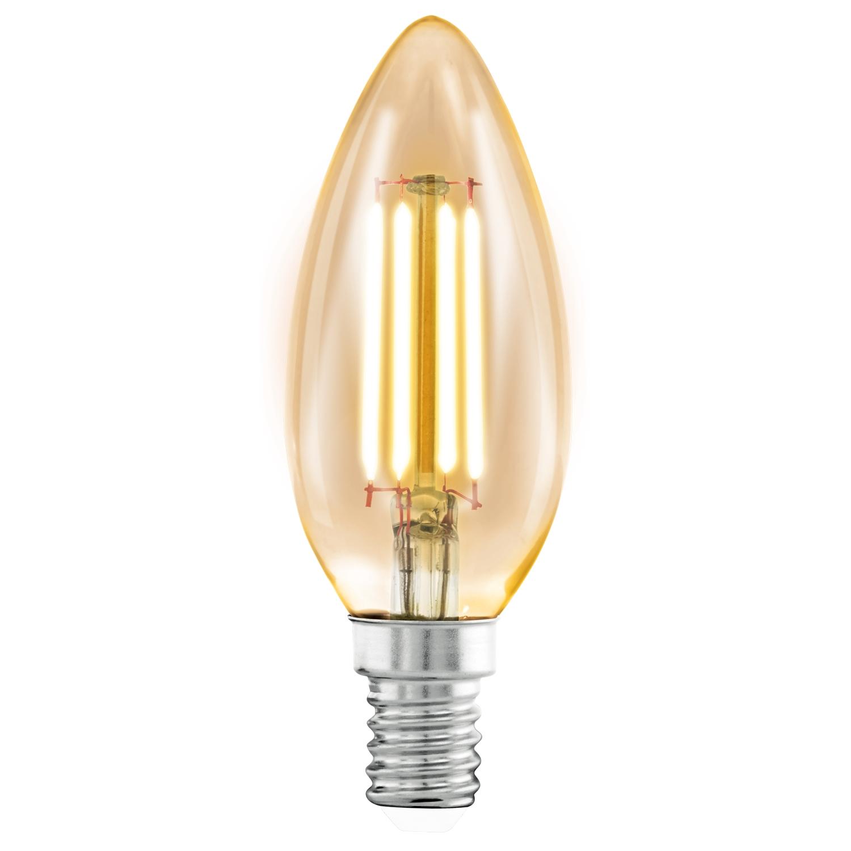 Bec LED Eglo Vintage Style Amber E14-LED C37 4W 2200K 25000 ore imagine sensodays.ro