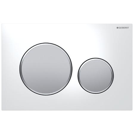 Clapeta actionare Geberit Sigma20 alb-crom mat imagine sensodays.ro
