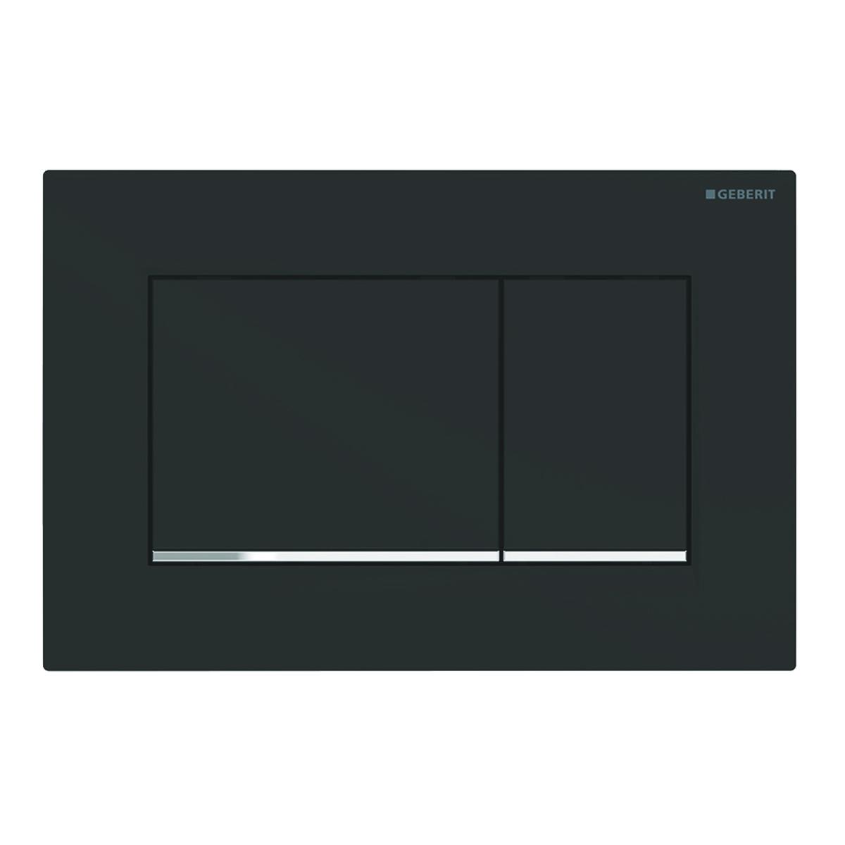 Clapeta actionare Geberit Sigma30 New EasytoClean negru mat lacuit /crom lucios