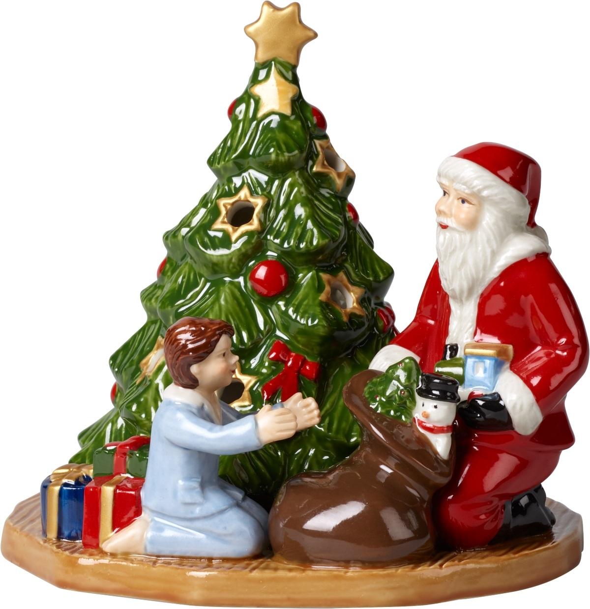 Suport lumanari Villeroy & Boch Christmas Toys Gift Giving 14 5x14x13 5cm imagine