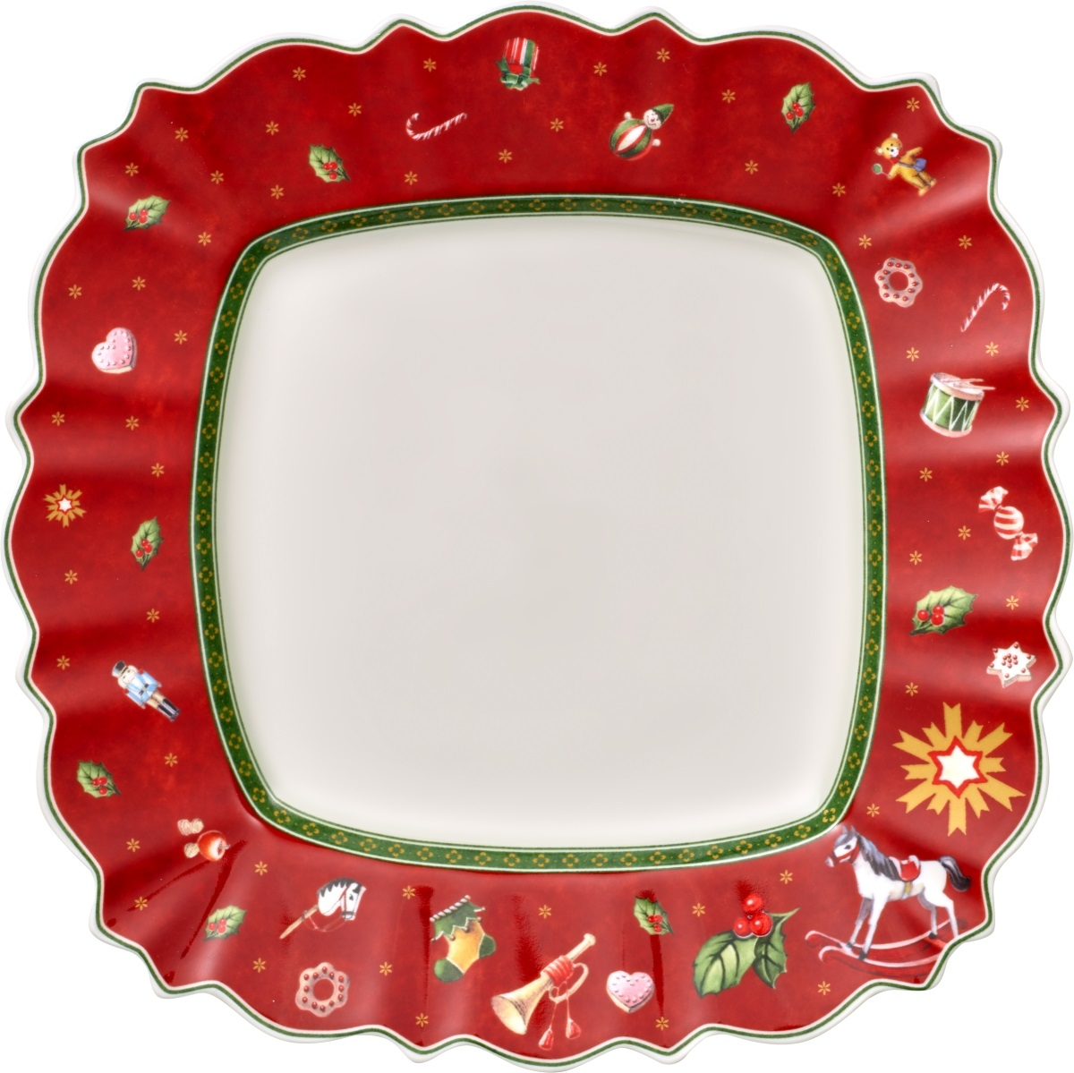 Farfurie plata Villeroy & Boch Toy's Delight Red 28.5x28.5cm poza