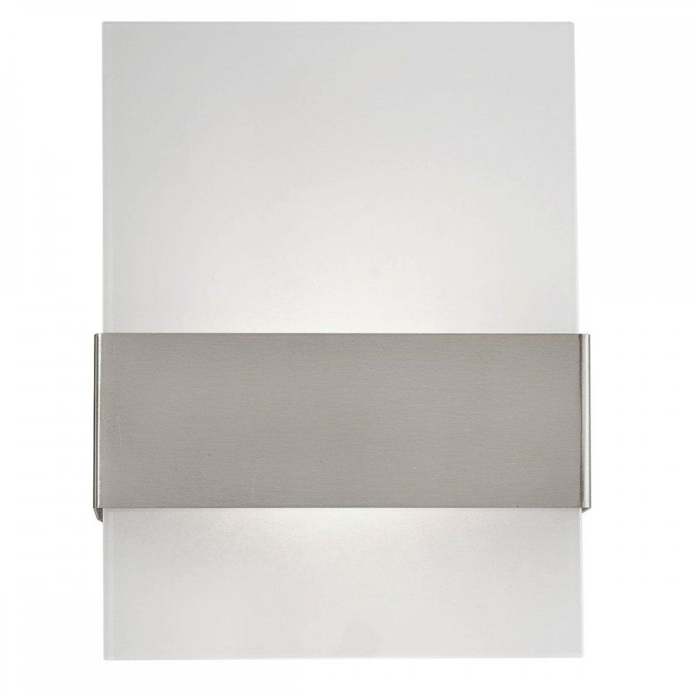 Aplica de exterior cu LED Eglo Modern Nadela 2x2.5W 21.5x29x9cm inox-sticla satinata imagine sensodays.ro