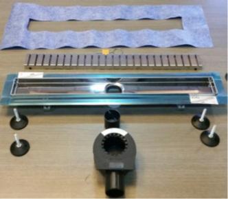 Pachet rigola dus Tece Linus Base cu capac inox 70cm