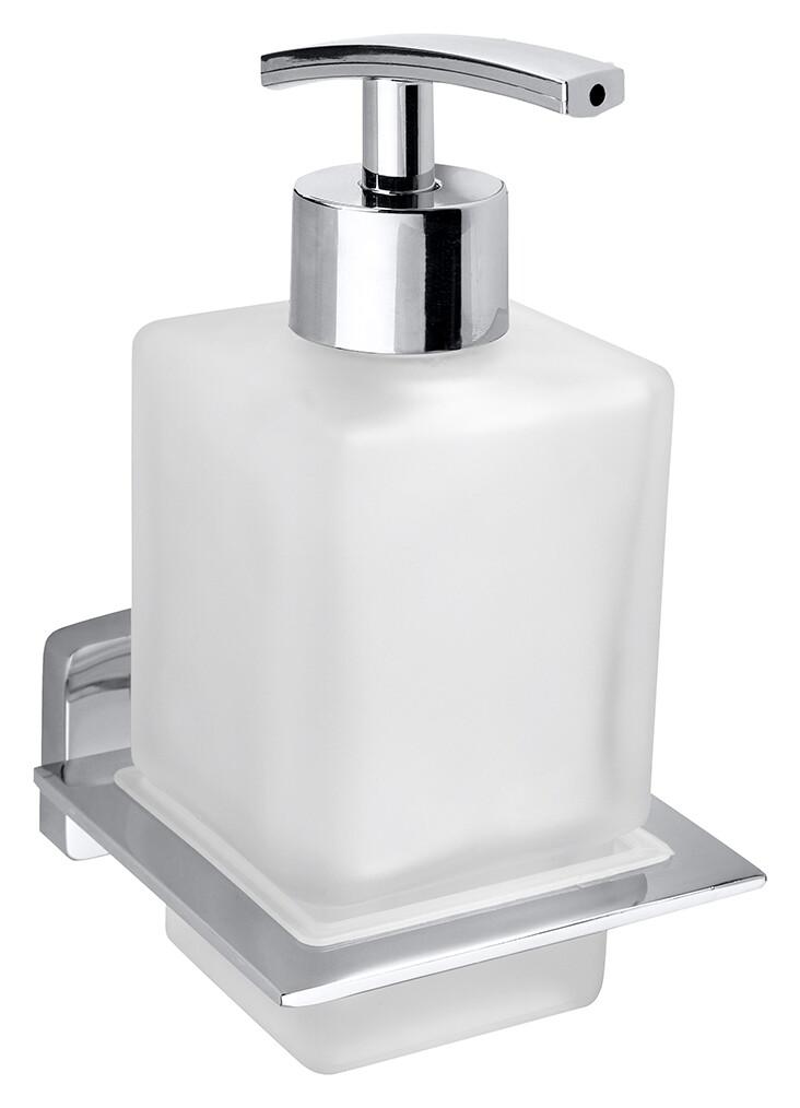 Dispenser sapun lichid Bemeta Niki montaj pe perete crom/sticla satinata