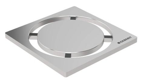 Gratar pentru sifon pardoseala Geberit FloorDrain inox periat rotund 8x8 cm