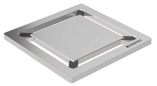 Gratar pentru sifon pardoseala Geberit FloorDrain inox periat patrat 8x8 cm