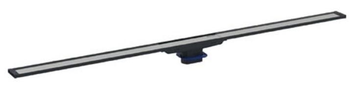 Capac rigola de pardoseala Geberit CleanLine20 lungime 30-90 cm finisaj metal negru-metal periat imagine sensodays.ro