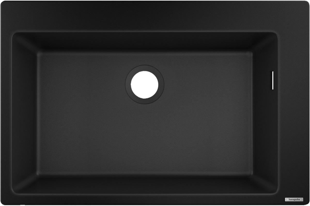 Chiuveta bucatarie Hansgrohe S510-F660 SilicaTec 660 cu 1 cuva 51x77x19cm graphite black poza