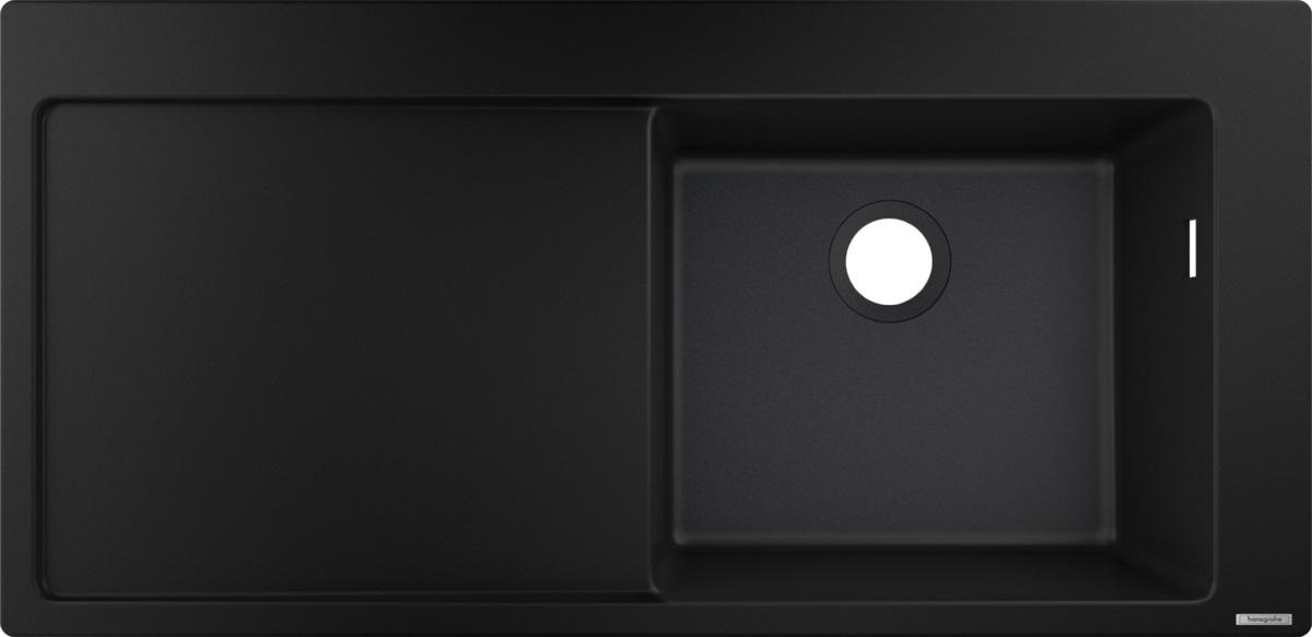 Chiuveta Hansgrohe S514-F450 SilicaTec 450 41.5x105x19cm picurator stanga graphite black