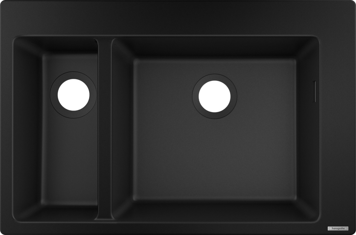 Chiuveta Hansgrohe S510-F635 SilicaTec 180/450 41.5x77x19cm graphite black