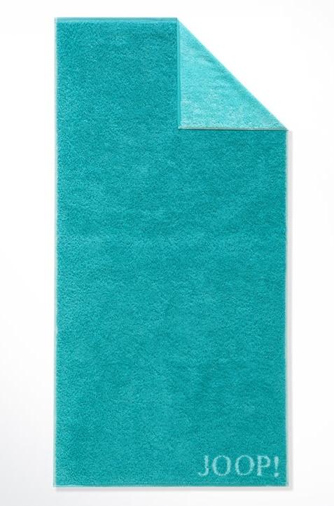Prosop baie Joop! Classic cu fata dubla 50 x 100 cm Albastru Turkis poza