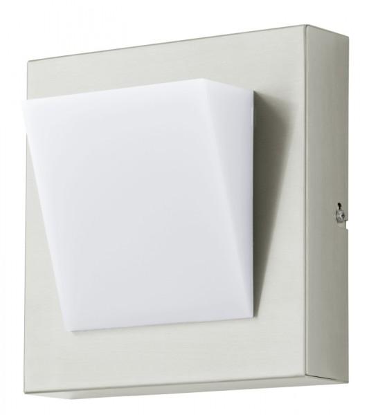 Aplica de exterior cu LED Eglo Modern Calgary 1 1x3.7W 20x20cm inox-alb imagine sensodays.ro