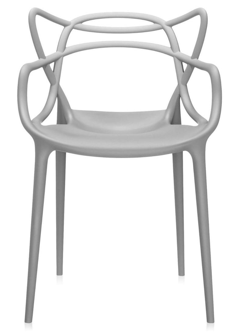 Scaun Kartell Masters design Philippe Starck & Eugeni Quitllet gri poza
