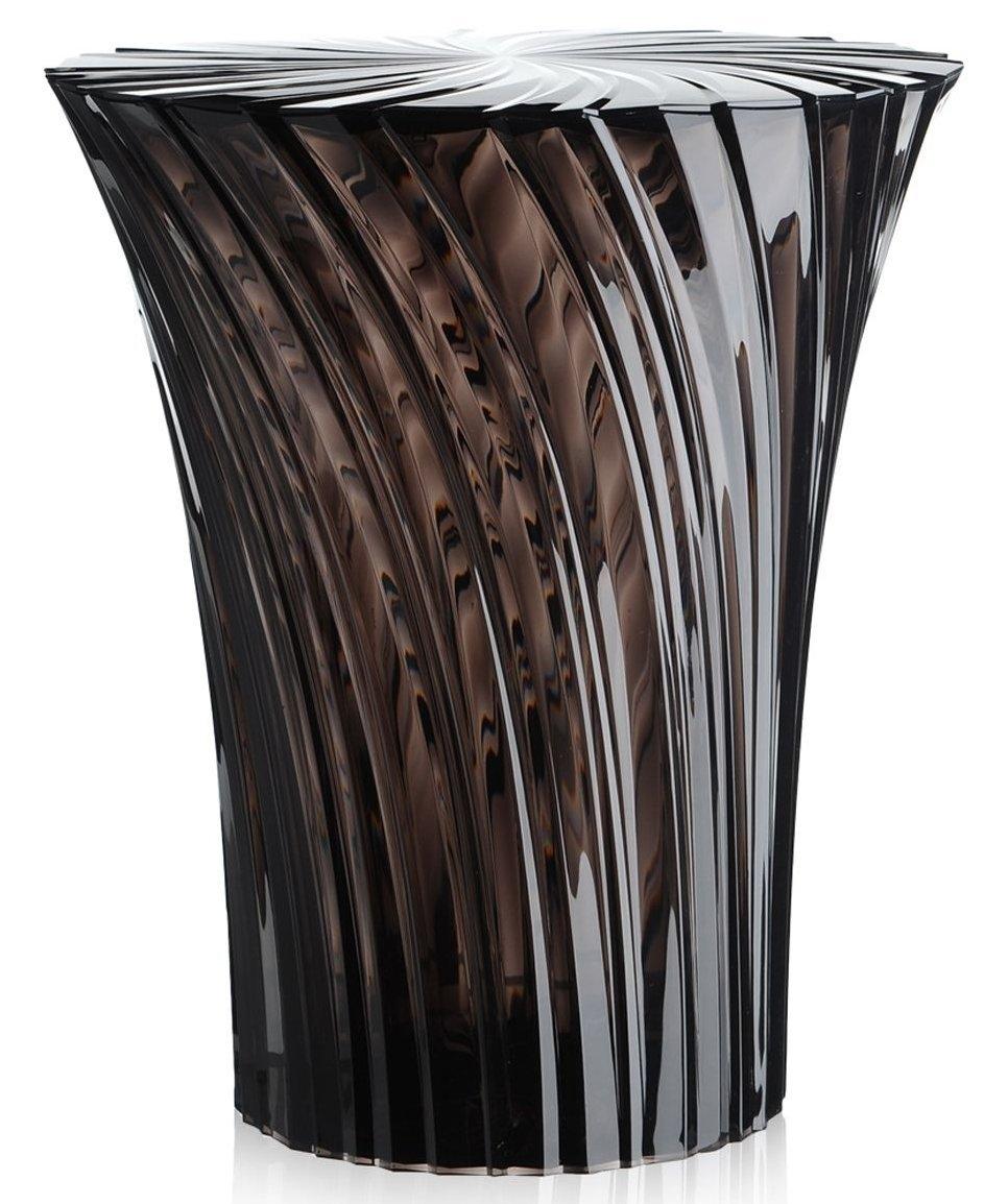 Masuta Kartell Sparkle design Tokujin Yoshioka diametru 38cm fumuriu transparent