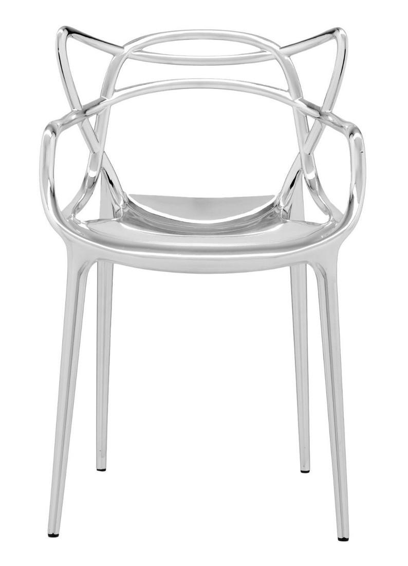 Scaun Kartell Masters design Philippe Starck & Eugeni Quitllet crom metalizat
