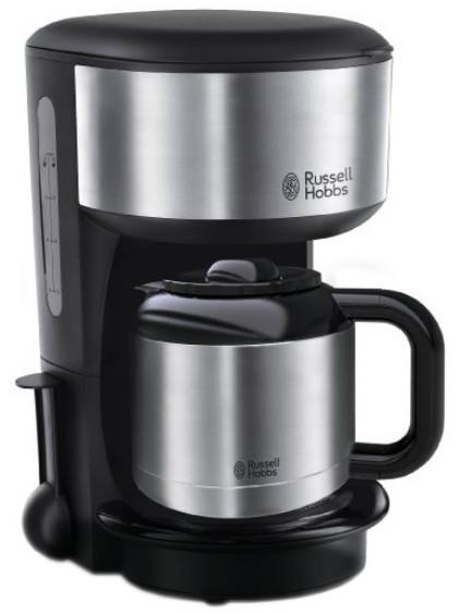 Cafetiera Russell Hobbs Oxford 20140-56 cu carafa termica 1 litru negru-inox
