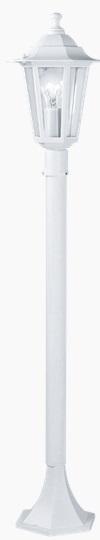 Lampadar Eglo Classic Laterna 5 1x 60W h 100cm Alb mat poza
