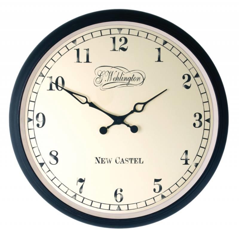 Ceas de perete NeXtime Aaltje 35cm metal - sticla negru poza