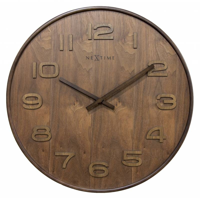 Ceas de perete NeXtime Wood Wood Brown 35cm